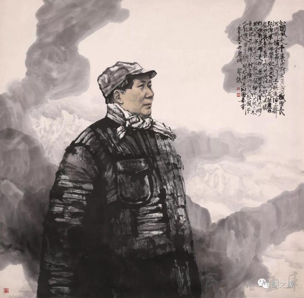 姜诗振画毛主席