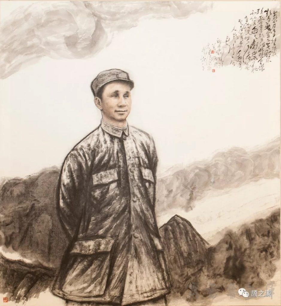 姜诗振画毛泽东